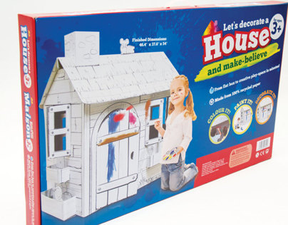 Lets Decorate... Cardboard Playhouse Packaging