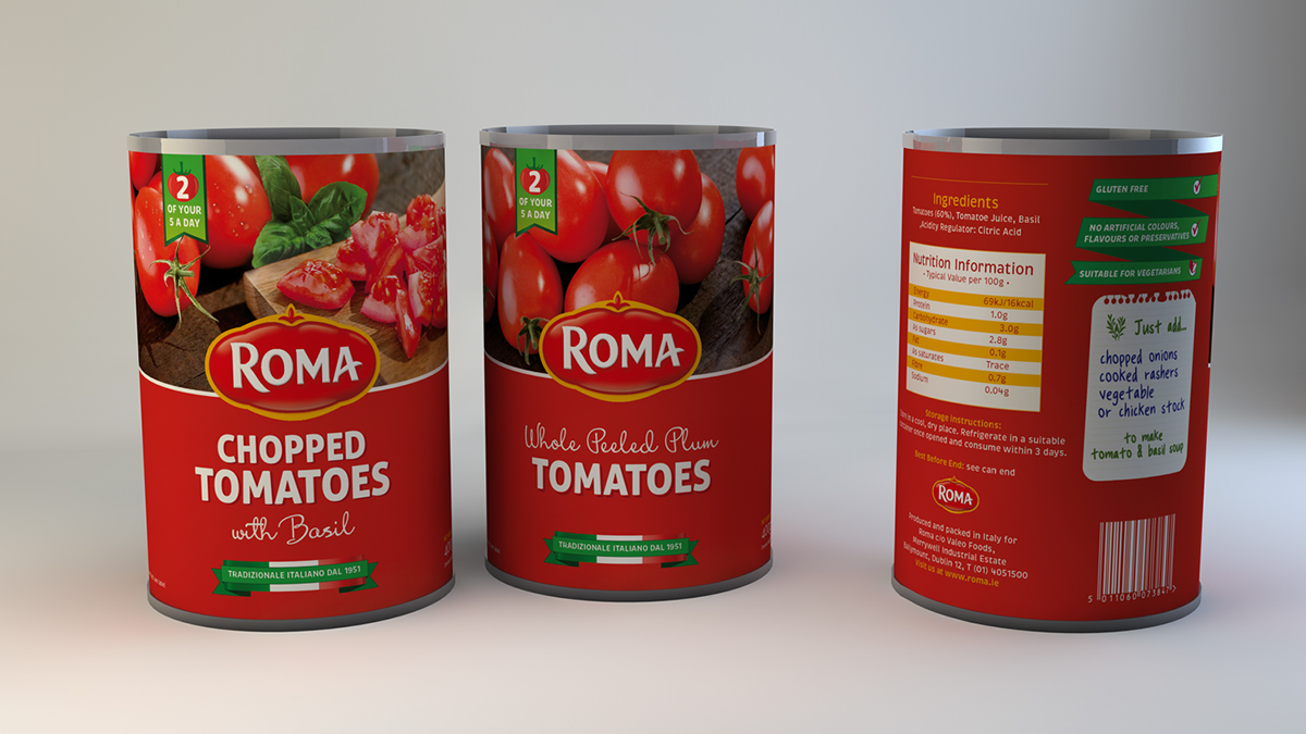 Roma Tomatoes Packaging