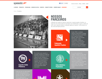 SPEEDO Website Partners Page