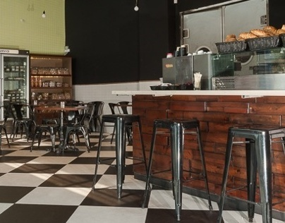עיצוב פנים מאפיית הרמן Bakery and Cafe Interior Design