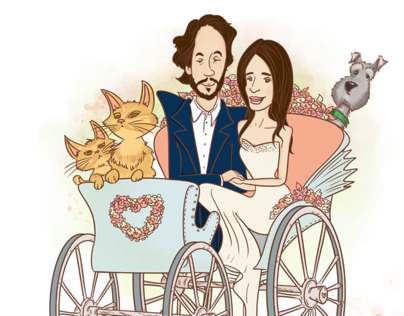 Wedding Invitation & event drawings