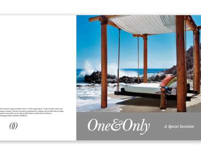 One&Only Resort - Brochure design