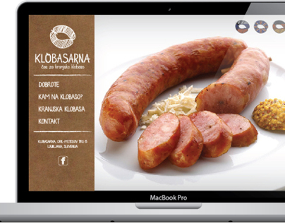 Web site for Klobasarna