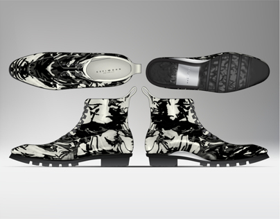 Illustrator and 3D CAD - Mens Luxury Hiking Boot