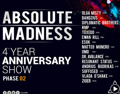 Tenzi FM presents Absolute Madness 4th Anniversary Show