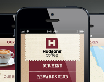Hudsons Coffee iPhone App