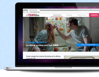 Dietagenetica.it - Redesign the new responsive website
