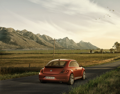 Automotive Composite Retouching - Volkswagen Beetle