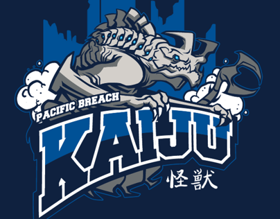 Pacific Breach Kaiju tee design