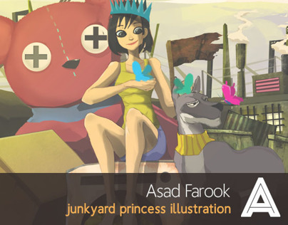 Junkyard Princess Illustration