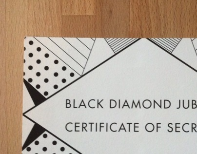Black Diamond Certificate