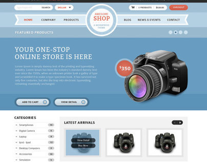 Shop Press  WordPress theme