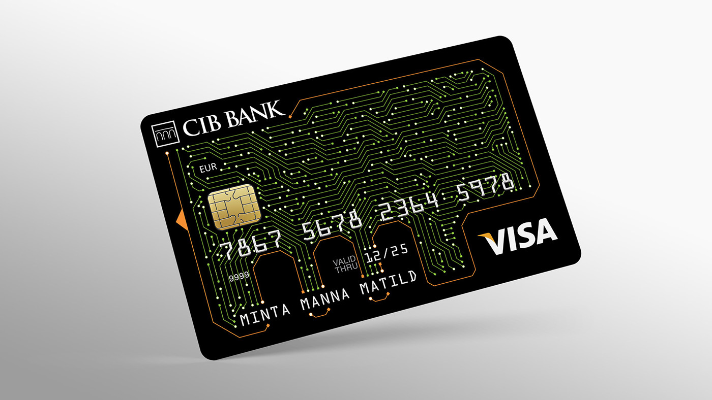 Bank card design / Winner of the Internet card