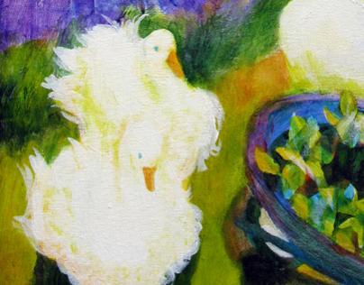 Plein air painting during the Oregon Lavender Festival