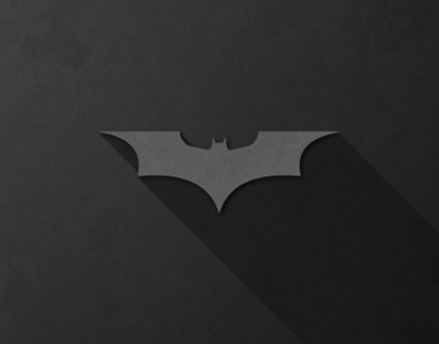 Super Heroes Logos With Long Shadow