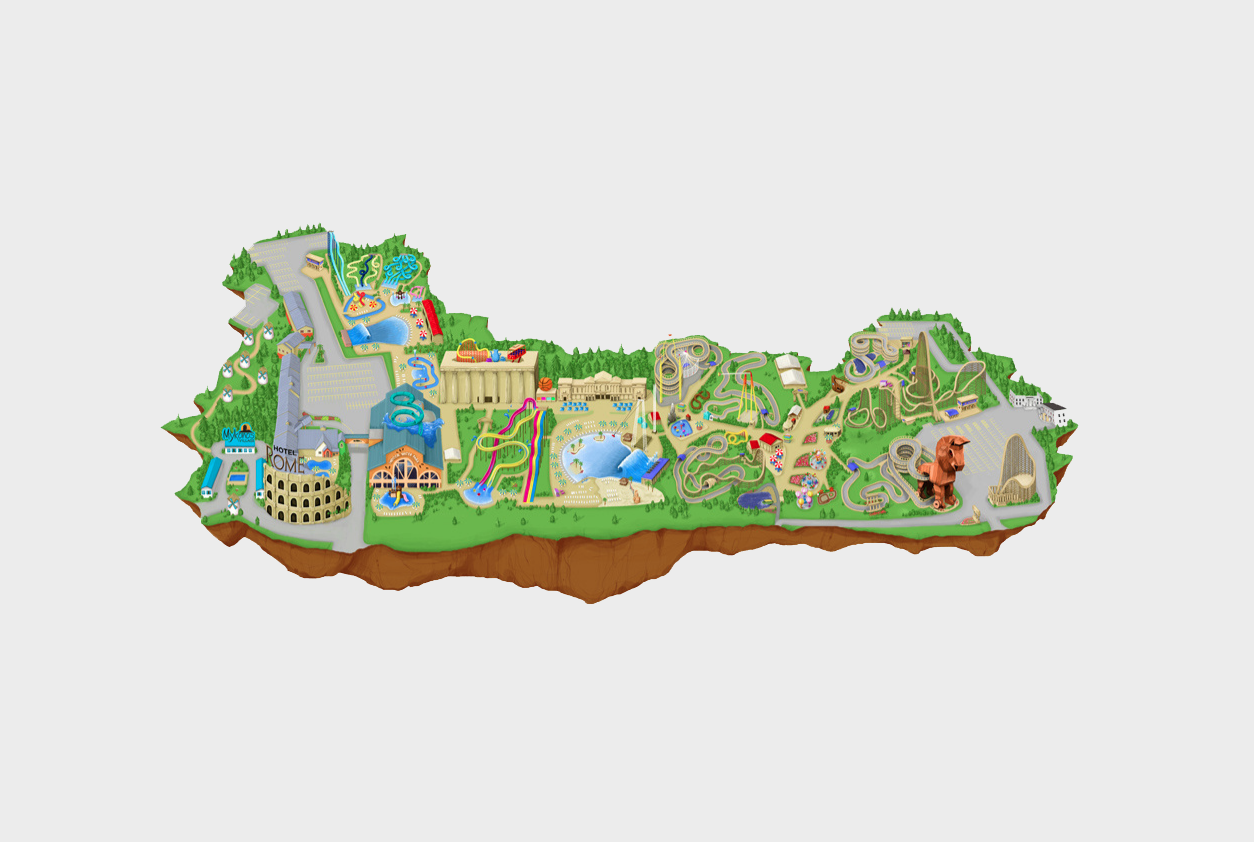 Mt Olympus Water&Theme Park interactive map