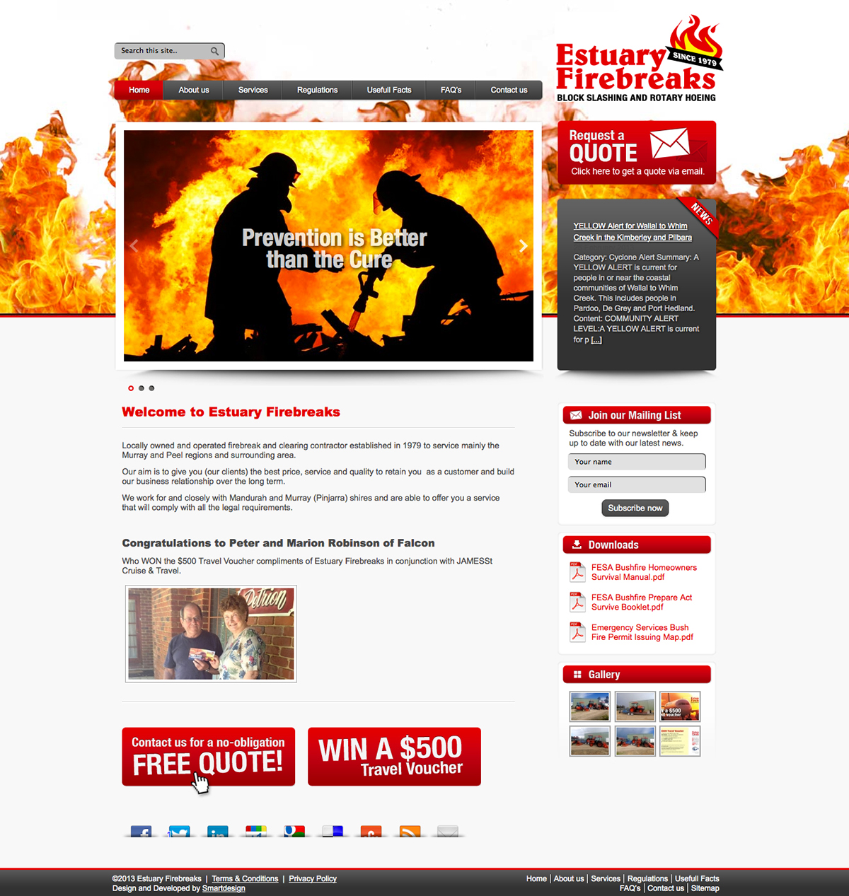 Design & Development of the Estuary Firebreaks Website