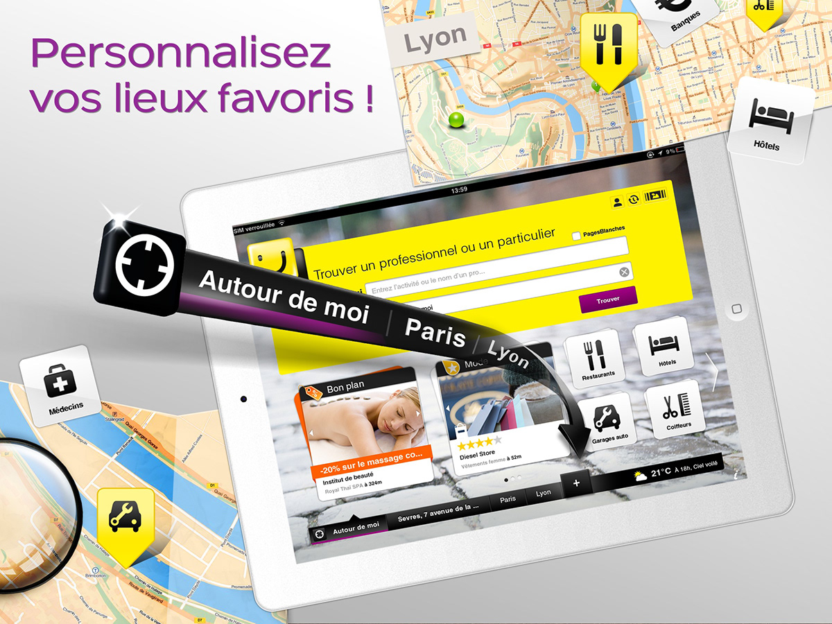 Screen shot for ipad application of Pagesjaunes_V2