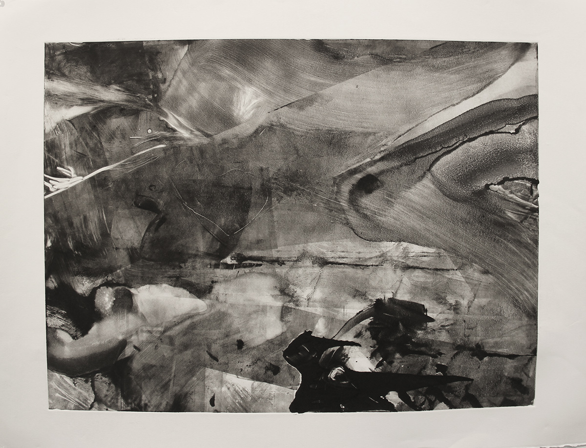 B&W Monoprints