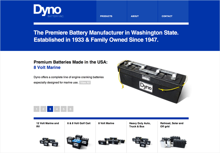 Web Design | Dyno Battery Inc.
