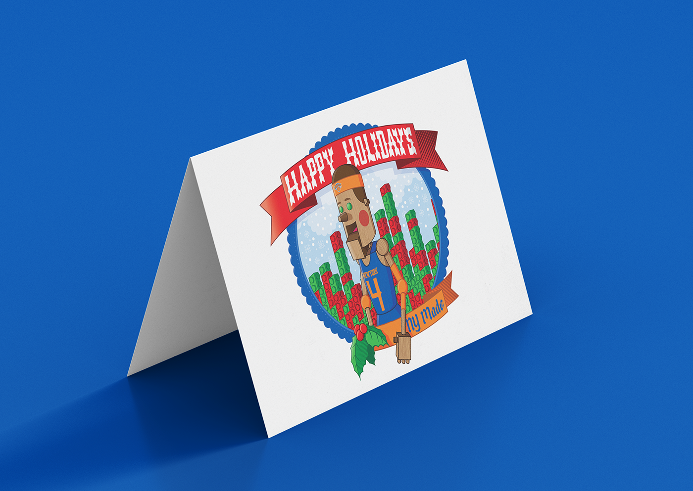 NY Knicks Holiday Card – Proposed