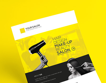 Premium Hair Salon Flyer