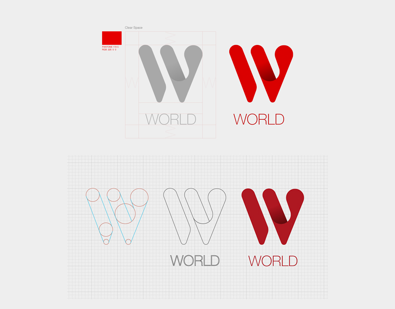 W-WORLD Corporate & Brand Identity