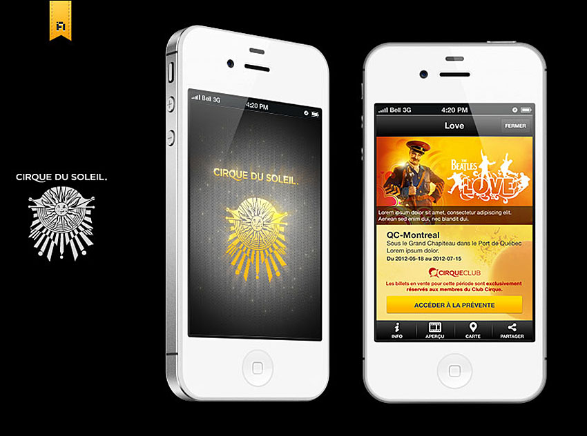 Cirque du Soleil - Mobile Application