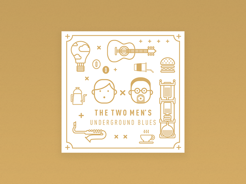 Two men's Cafe Rebranding project