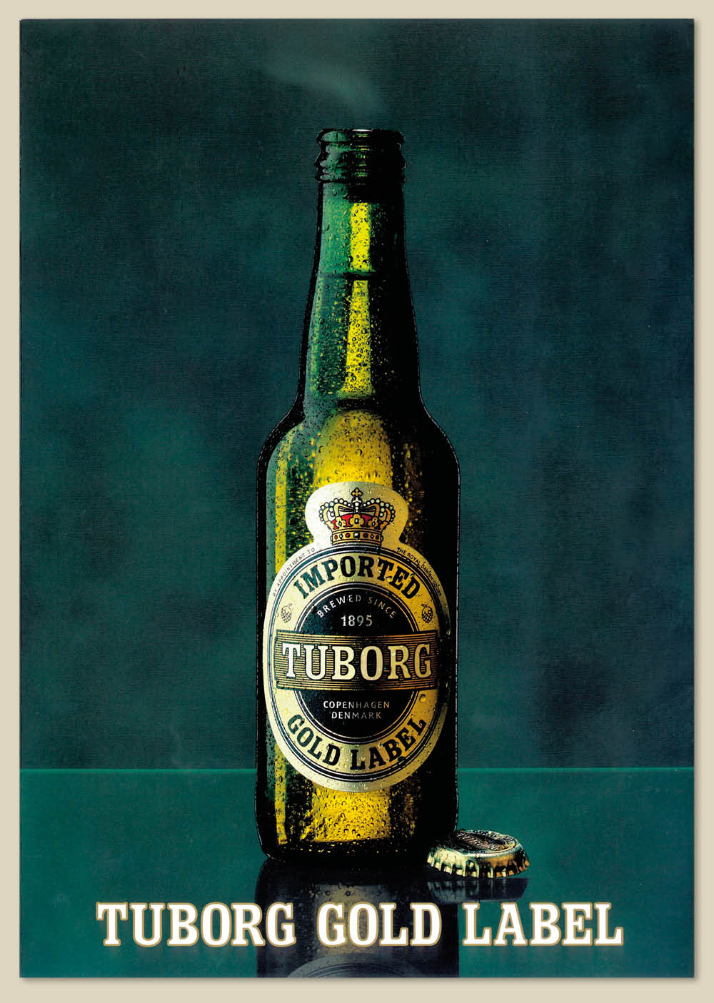 Brochure print design – Tuborg Gold Beer brochure