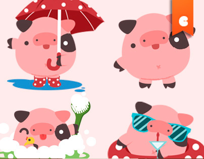 Walter the Pig - Instasize Stickers