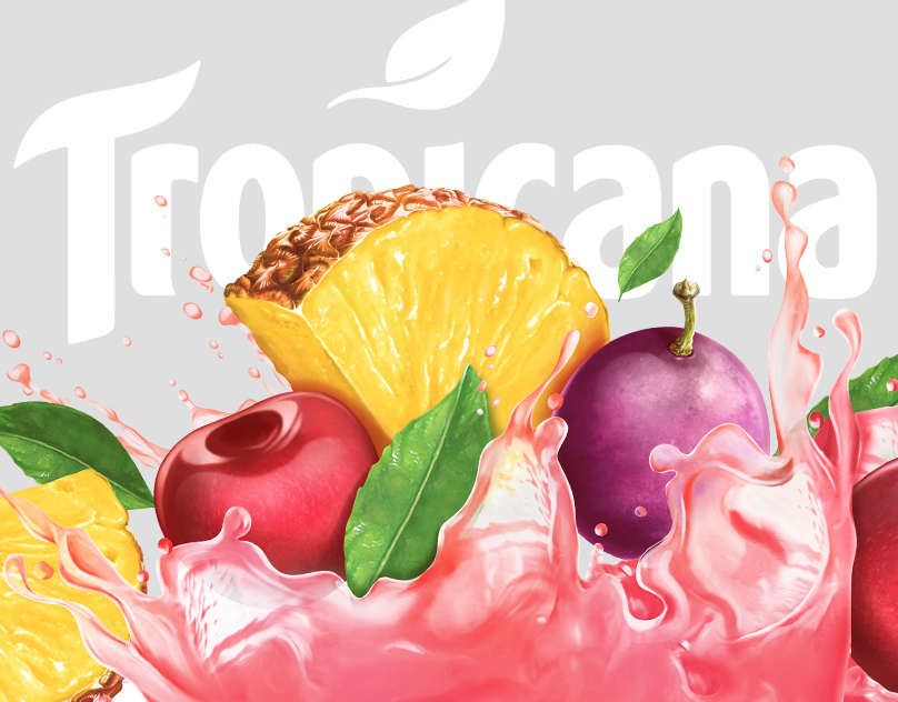 Tropicana - Packaging Illustration