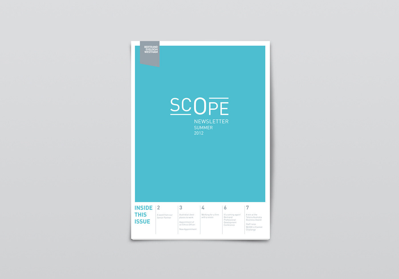 Scope  //  Corporate Newsletter