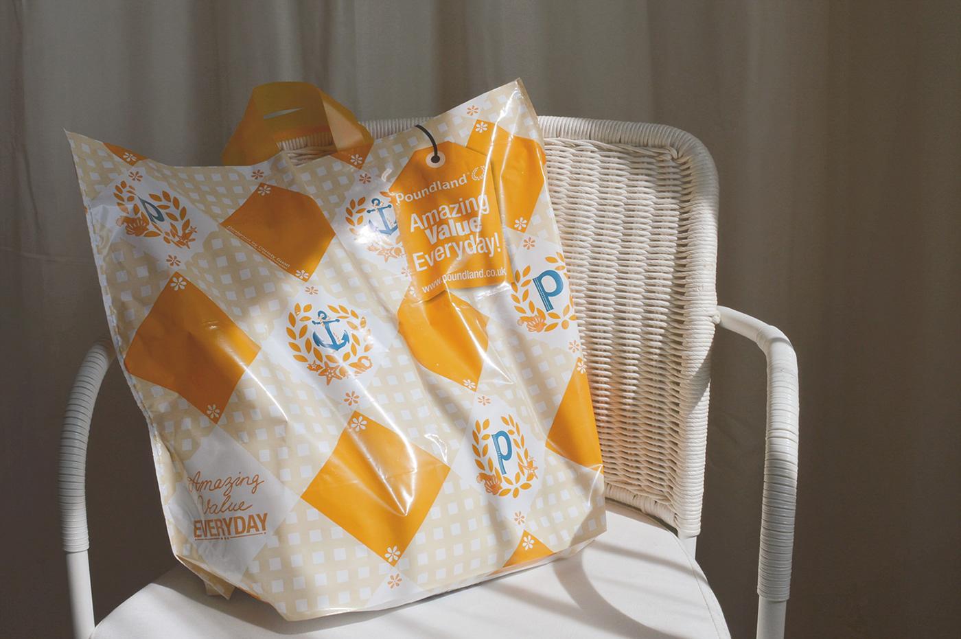 Poundland shopping bag 2015