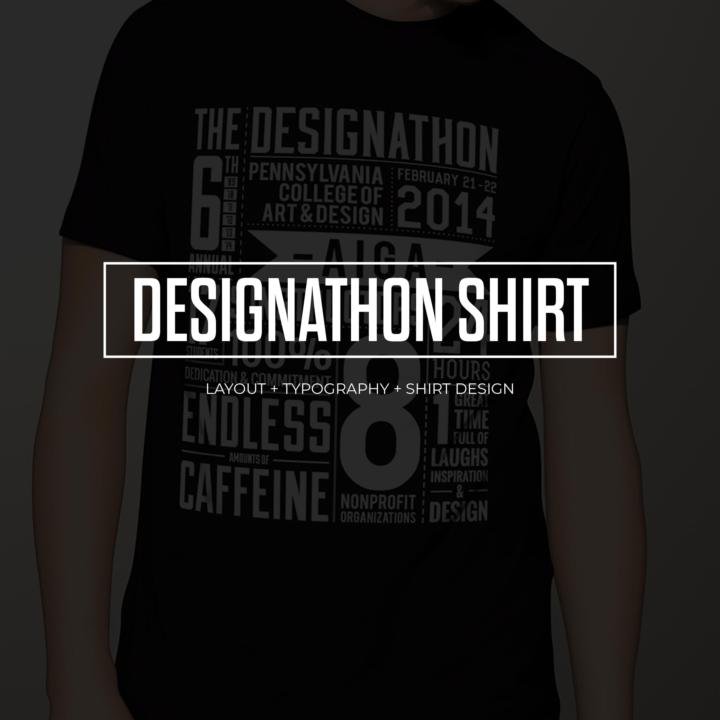 AIGA 6th Annual Designathon T-Shirt Design