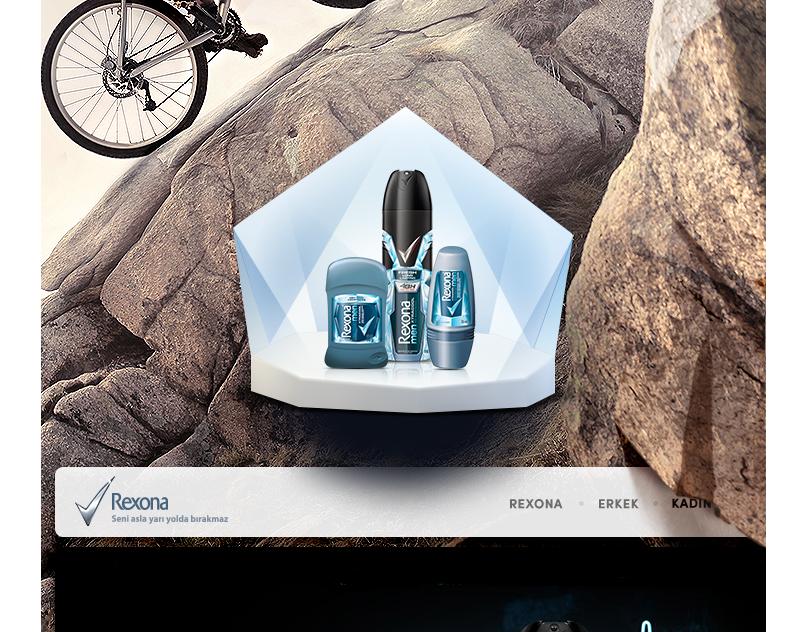 Rexona.com.tr web design