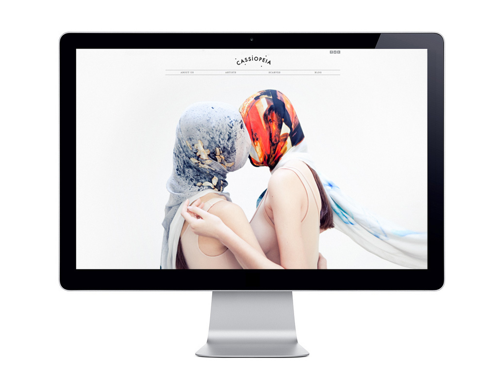Cassiopeia art & fashion project   website design