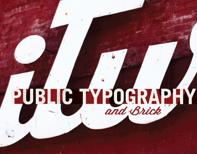 Public Typography and Brick