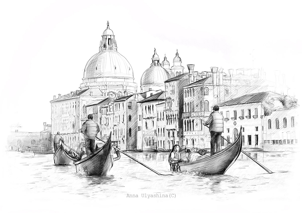 Italy. Illustration.