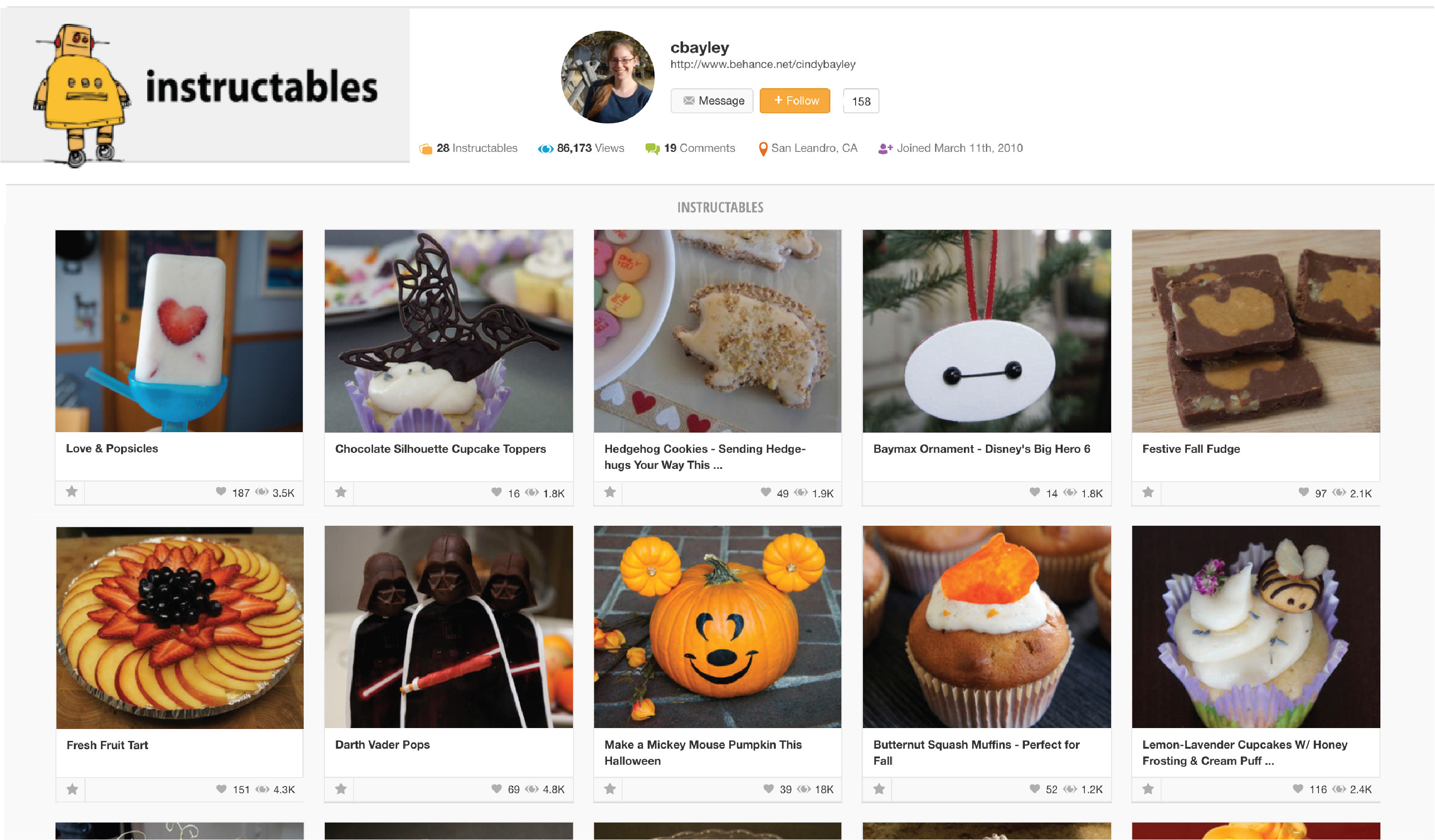 Instructables Entries