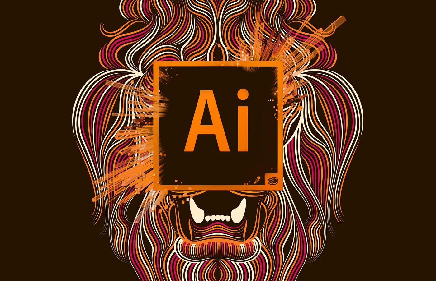 Creative Cloud Illustrator Lion