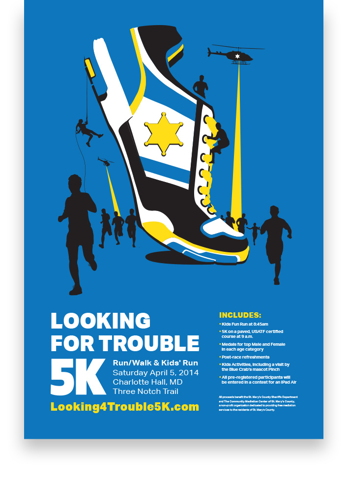 Looking for Trouble 5K T-Shirt Design