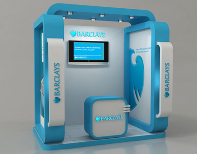 Barclays bank booth