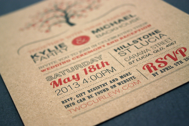 Tree Wedding Invite Postcard