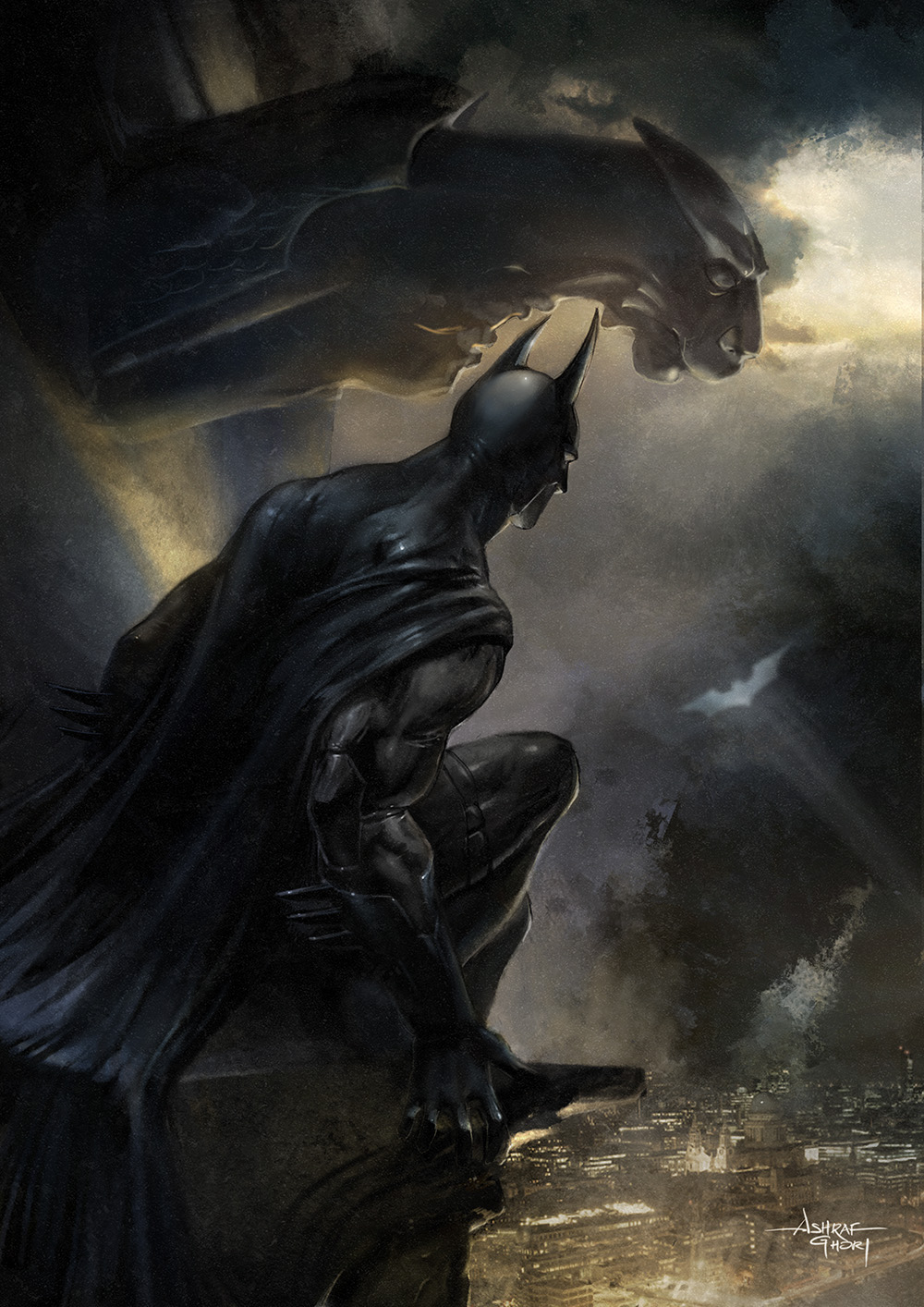 Batman - The Signal. Digital Painting