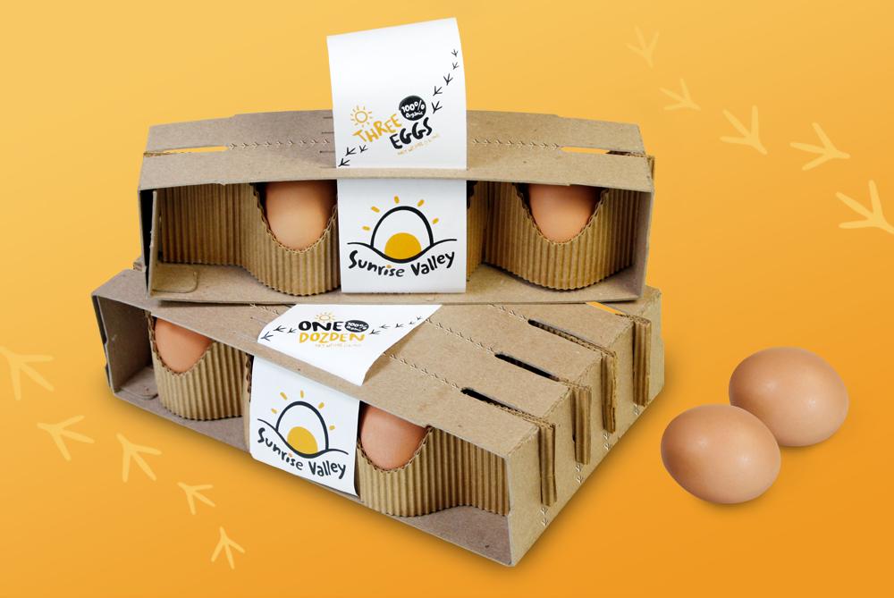 Sunrise Valley Egg packaging