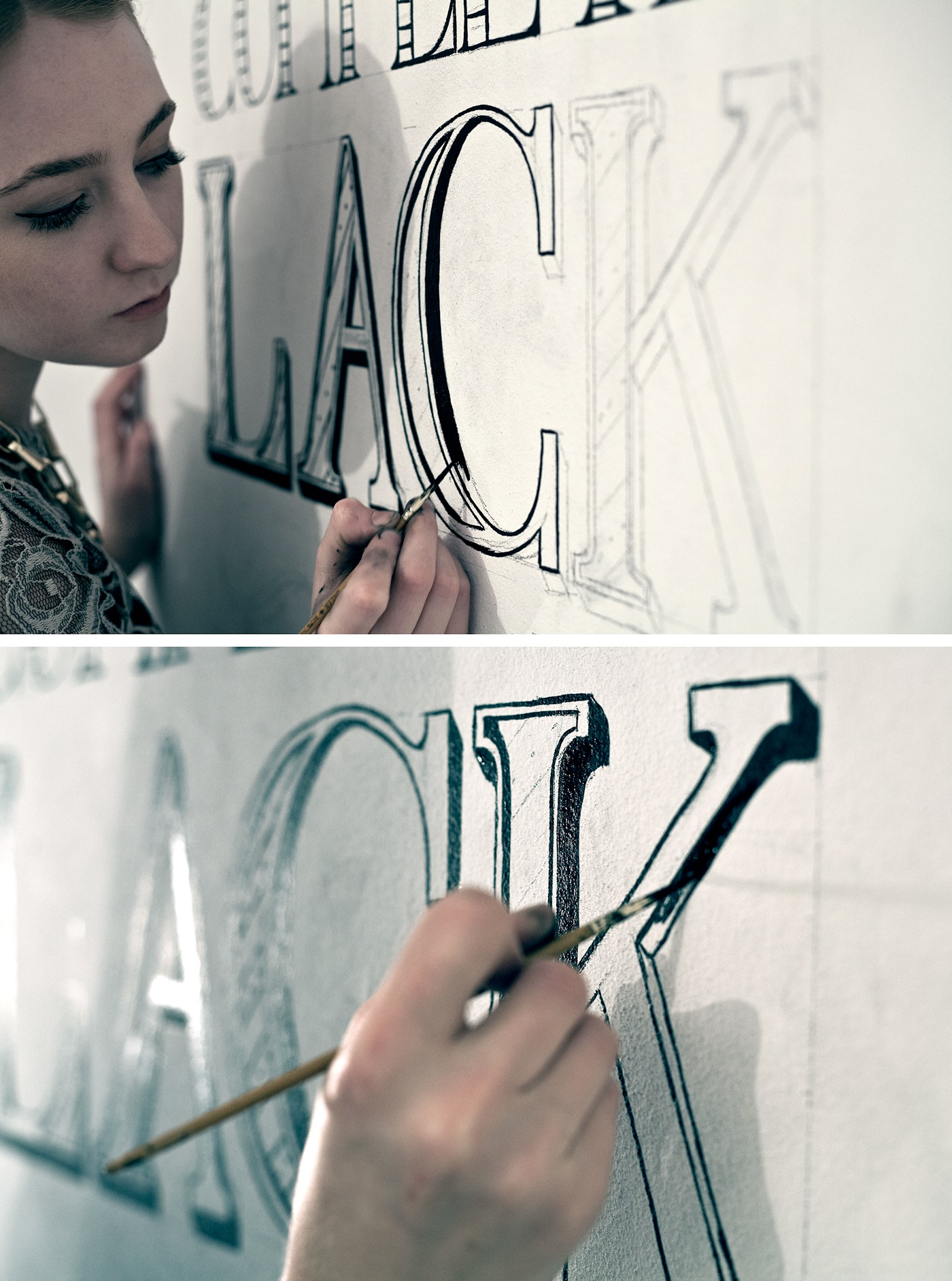 Typography - Timelapse video