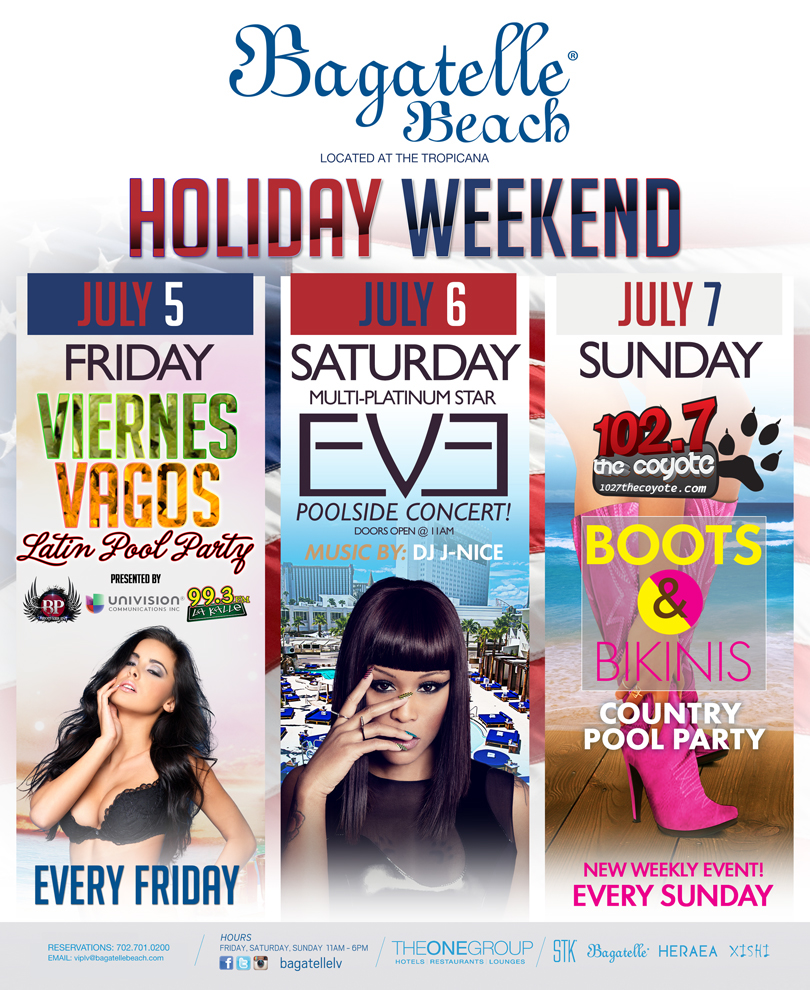 Bagatelle holiday weekend