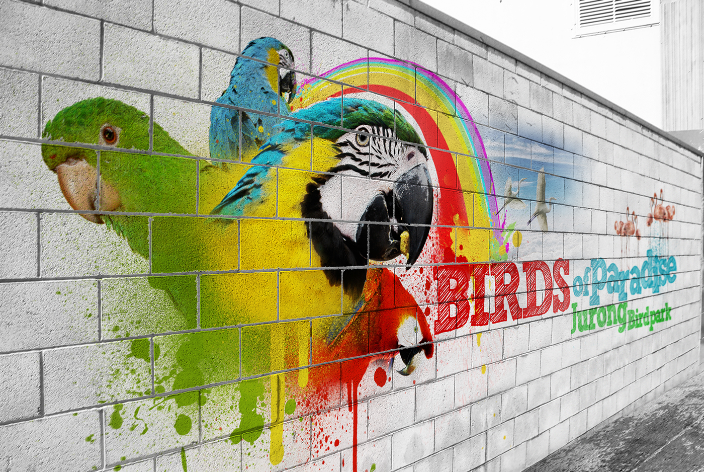 Mural Design - Birds Of Paradise