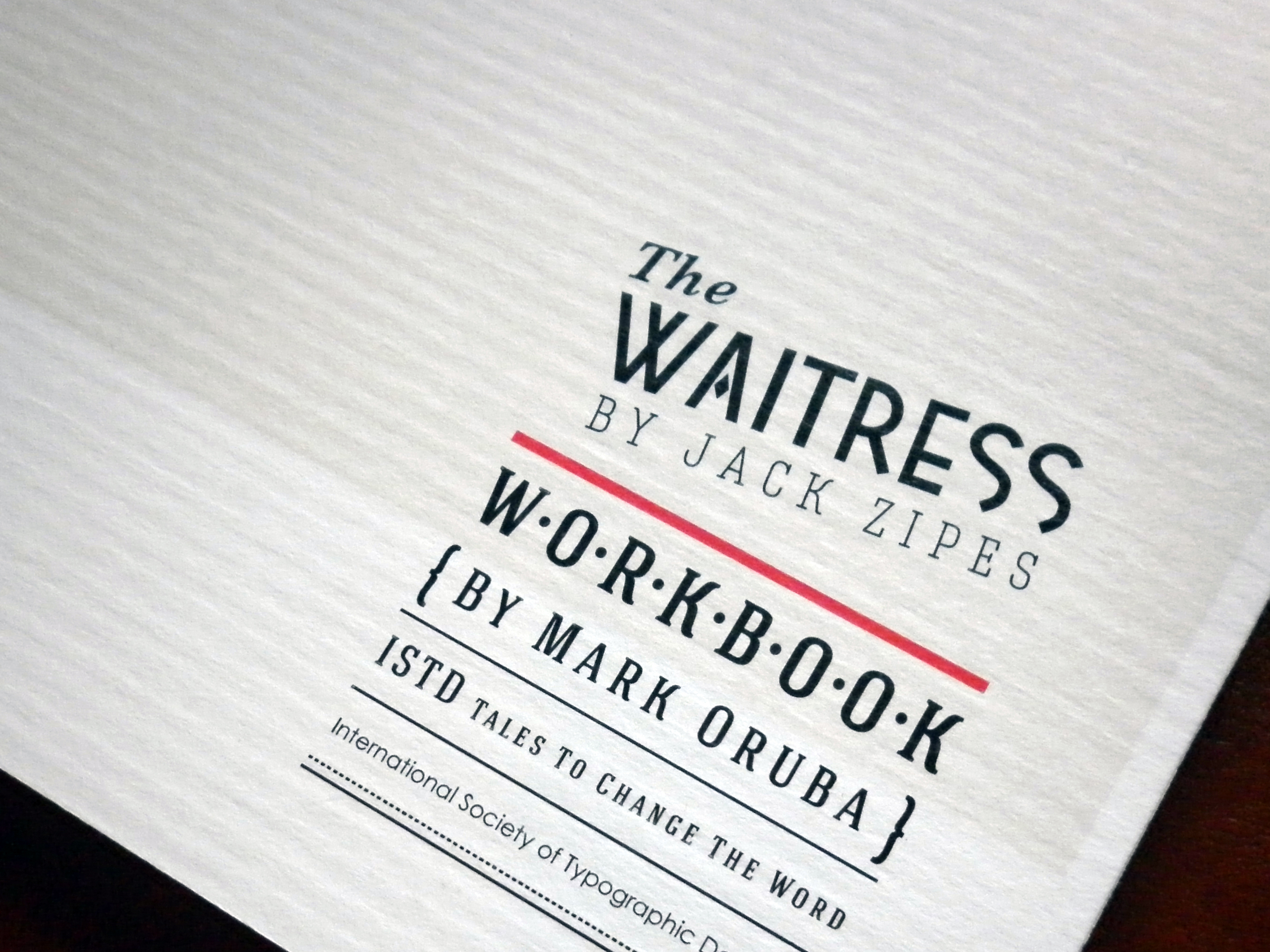The Waitress: ISTD 2012